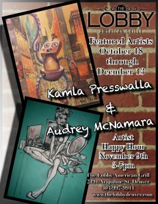 October 18th Art Opening at the Lobby